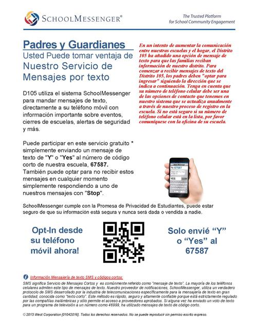 Spanish SMS Opt In