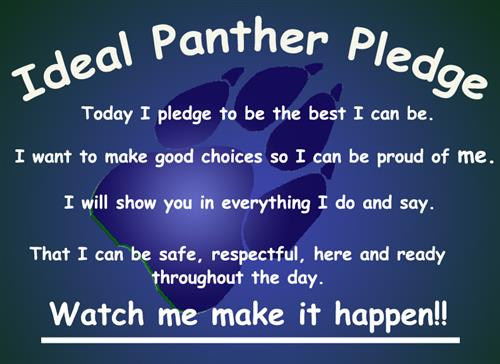 Ideal Panther Pledge