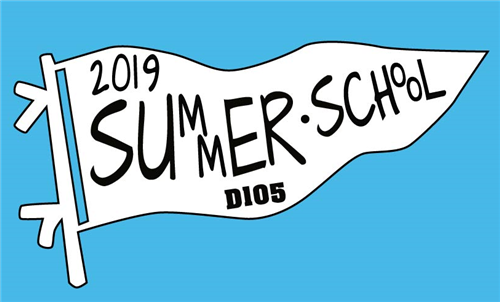 summer school logo on a pennant