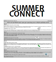 Don't Disconnect This Summer - Connect!