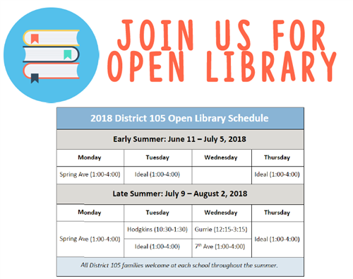 D105 Open Library Schedule in English