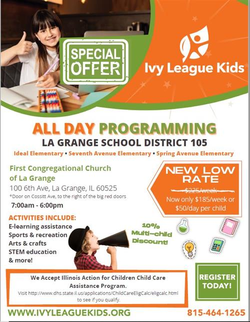 Ivy League Special Pricing Flyer
